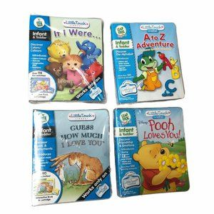 Leap Frog Little Touch Library Leap Pad LOT of 4